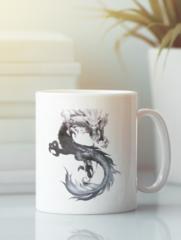 Кружка с изображением Дракон (Dragon) белая 009