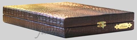 Подарочный футляр под крокодиловую кожу для фамильного диплома А4