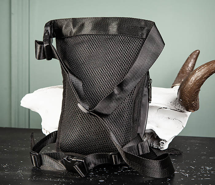 BAG506-1 Черная набедренная сумка из ткани «Оксфорд» фото 05