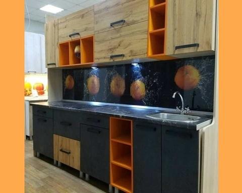 Кухня КРАФТ-1  дуб вотан / бетон темный / дуб сонома