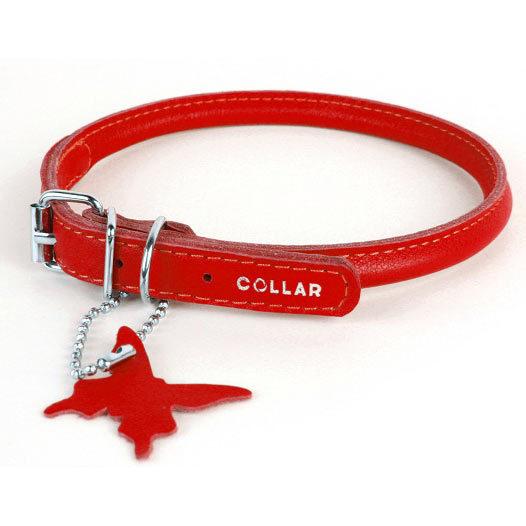 круглые кожаные ошейники для собак collar купить