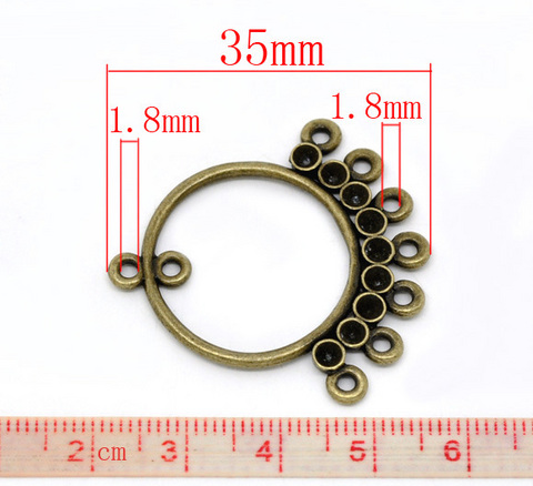Коннектор (1-8) 35х34 мм (цвет - античная бронза) ()