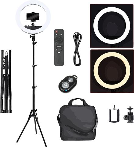Кольцевая светодиодная лампа Mettle Led 240 (RL-12) 34 см со штативом для профессиональной съемки