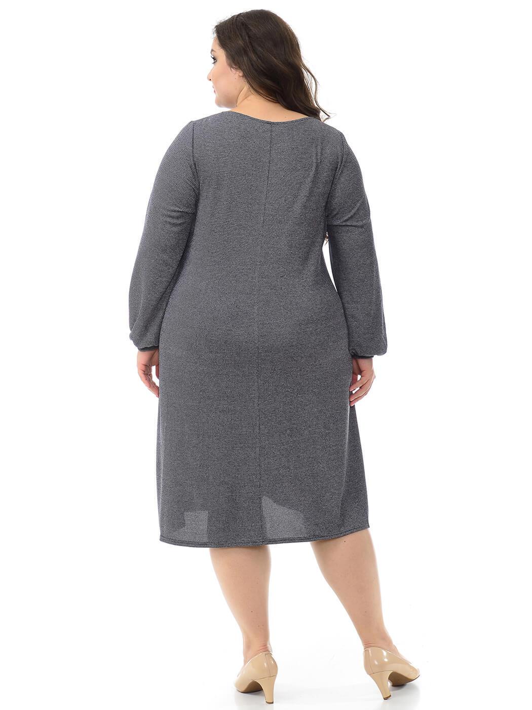 Платье из меланжа А-силуэта