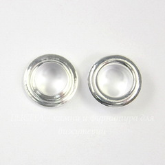 Сердцевина для бусины (цвет - серебро) 10х4 мм, 5 пар