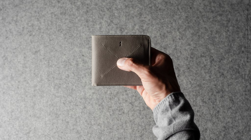 Hard Graft Cash Card Coin Wallet Off Grey