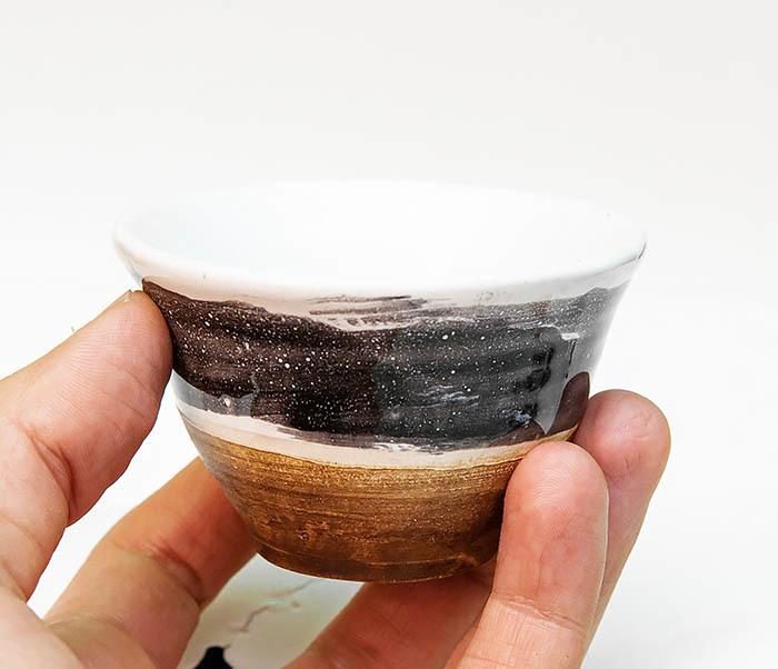CUP101-3 Пиала ручной работы, керамика, серия «Млечный Путь» фото 06