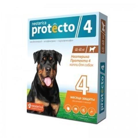 Протекто (Protecto) капли для собак 40-60 кг.