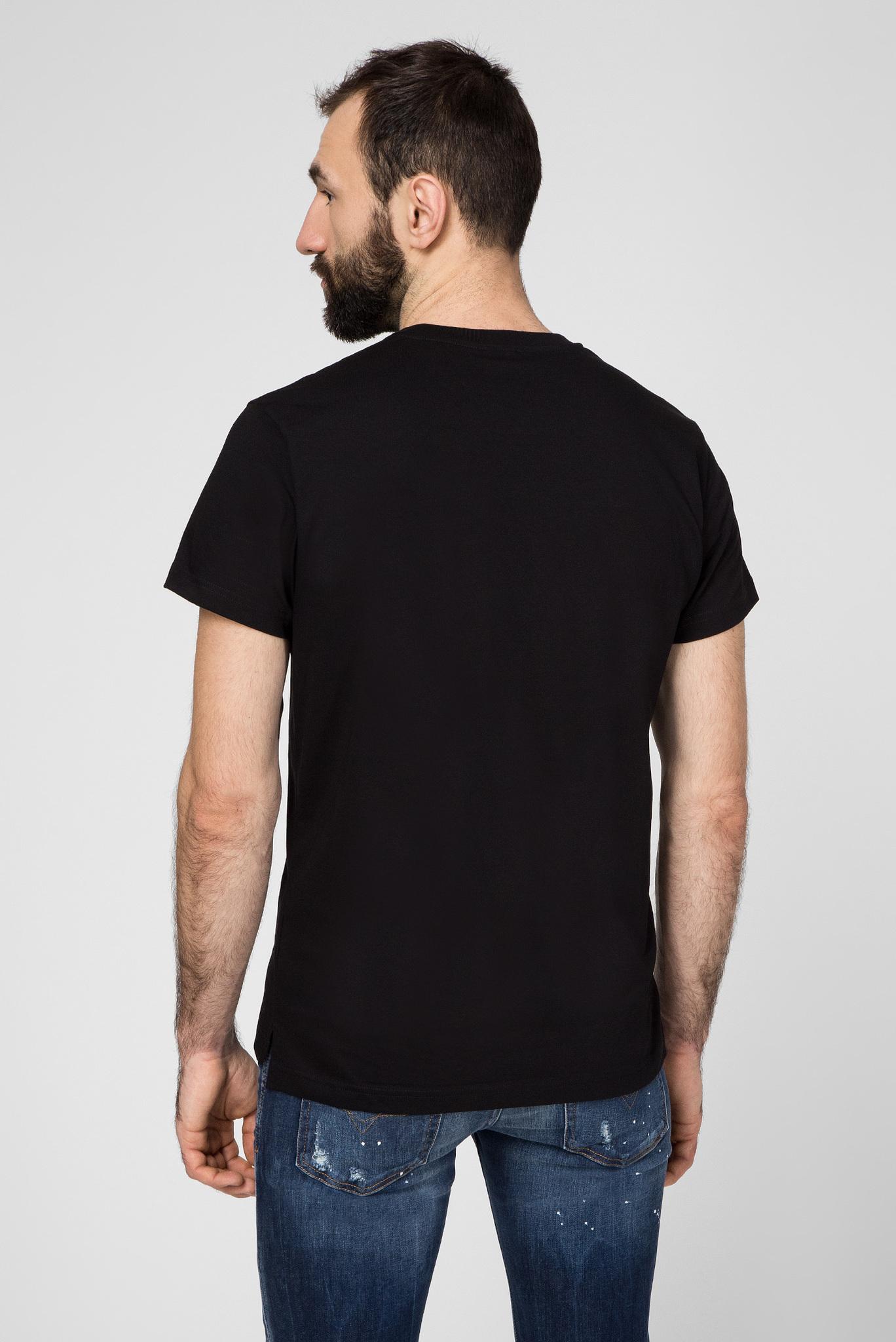 Мужская черная футболка T-DIEGO-SLITS-J6 Diesel