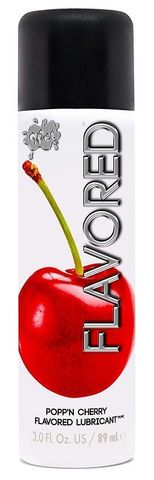 Лубрикант Wet Flavored Popp N Cherry с ароматом вишни - 89 мл.