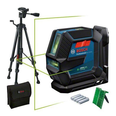 Линейный лазерный нивелир BOSCH GLL 2-15 G + штатив