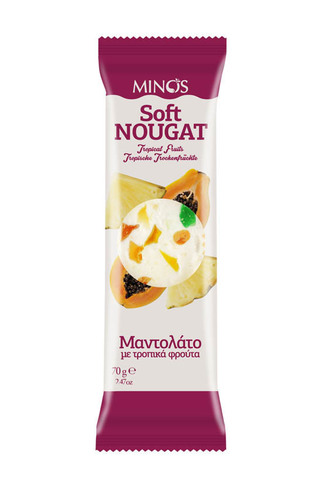Нуга с тропическими фруктами Minos 70 гр.