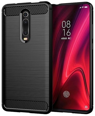 Чехол для Xiaomi Mi 9T (9T Pro, Redmi K20, K20 Pro,K20 Pro Premium) цвет Black (черный), серия Carbon от Caseport