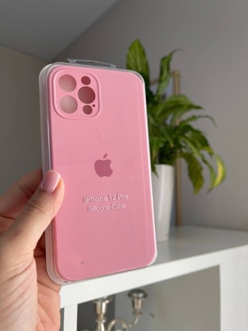 iPhone 12 (6.1) Silicone Case Full Camera /light pink/
