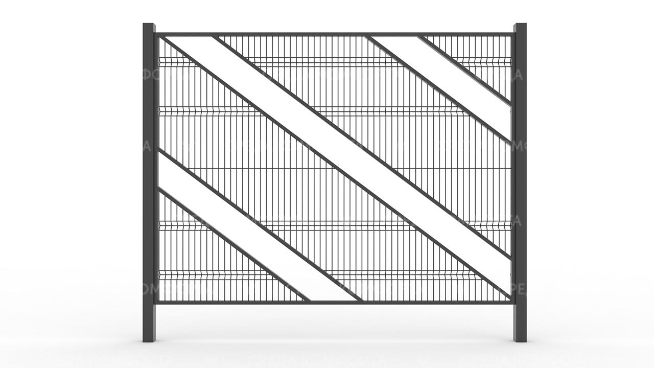 Забор 3Д ZBR0075