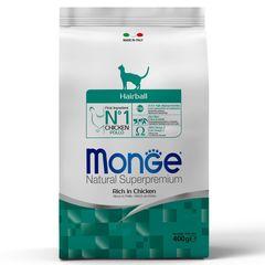 Корм для кошек Monge Cat Hairball для выведения комков шерсти