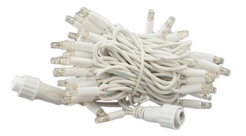 LED гирлянда нить на пвх проводе белый провод 10 метров