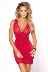 Красное нижнее платье с кружевами Felinda