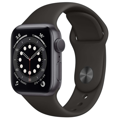 APPLE Watch SE 40mm Space Grey Aluminium Case with Black Sport Band