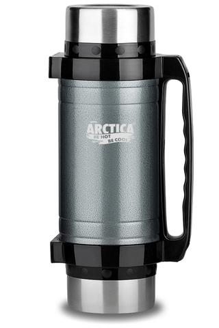 Термос универсальный (для еды и напитков) Арктика (2,5 литра) с супер-широким горлом, серый