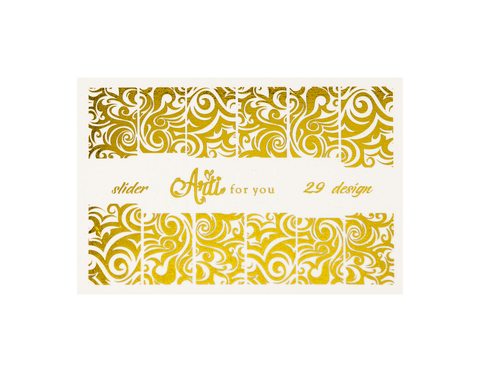 Фольга для дизайна ногтей цвет золото 29 купить за 120руб