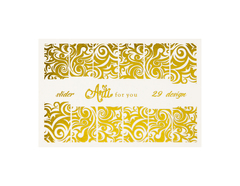 Фольга для дизайна ногтей цвет золото 29