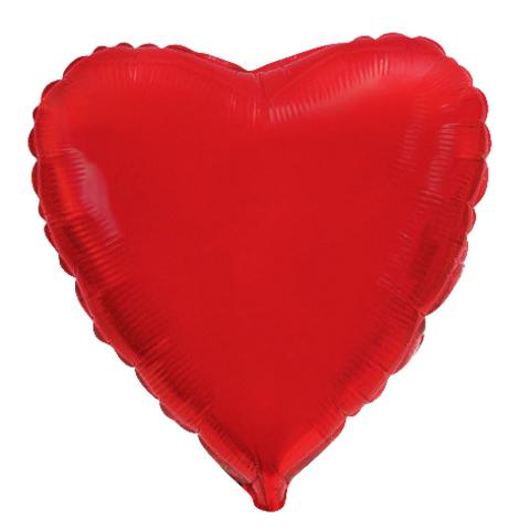 Шар сердце красный, 46 см