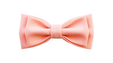 Однотонный галстук - бабочка (персиковый)