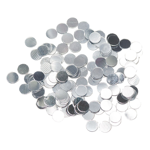 Круги Серебро 2 см
