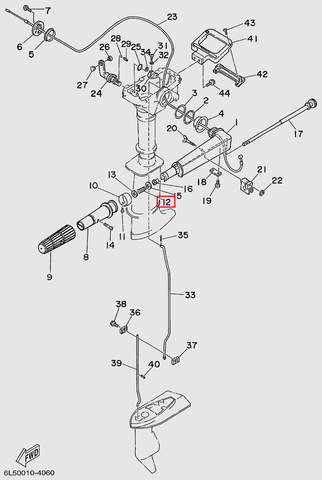 Пружина компрессионная  для лодочного мотора T3 SEA-PRO (11-12)
