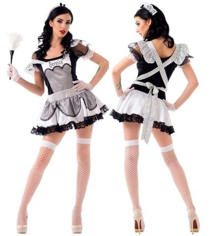 Красивый костюм домработницы для ролевых игр