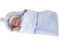 Munecas Antonio Juan Кукла-младенец Карлос в конверте, в голубом, 26 см (4066B)
