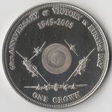 K8709, 2005, Тристан-да-Кунья , 1 крона 60 лет Победы - Самолеты Вторая мировая
