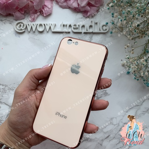 Чехол iPhone 6/6S Glass Case Logo /rose gold/