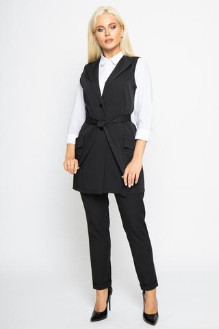"""<p>Жилет """"Офис"""" - универсальный и практичный предмет одежды из нашей базовой коллекции. Застежка на пуговице. Функциональные карманы. Без подклада.&nbsp;</p>"""
