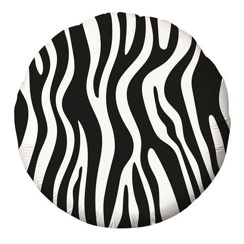 Круг принт зебра 2