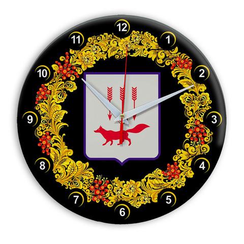 Часы в стиле Хохлома сувенирные Саранск 03
