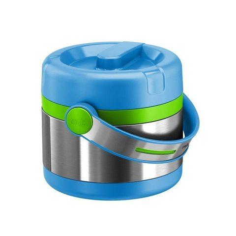 Термос детский для еды Emsa Mobility Kids (0,65 литра), голубой/зеленый