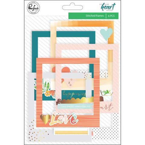 Высечки-рамки от Pinkfresh Studio- Let Your Heart Decide -6 шт