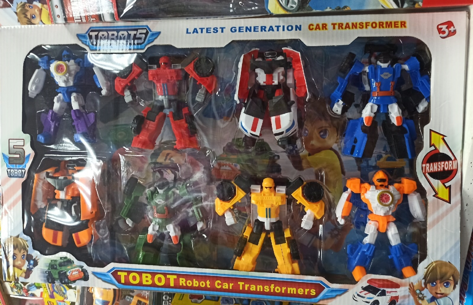 Tobot 5 Robot Car Transformers 8 шт 15 см