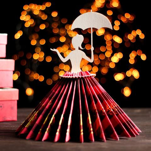Салфетница «Девушка с зонтиком», 251313 см