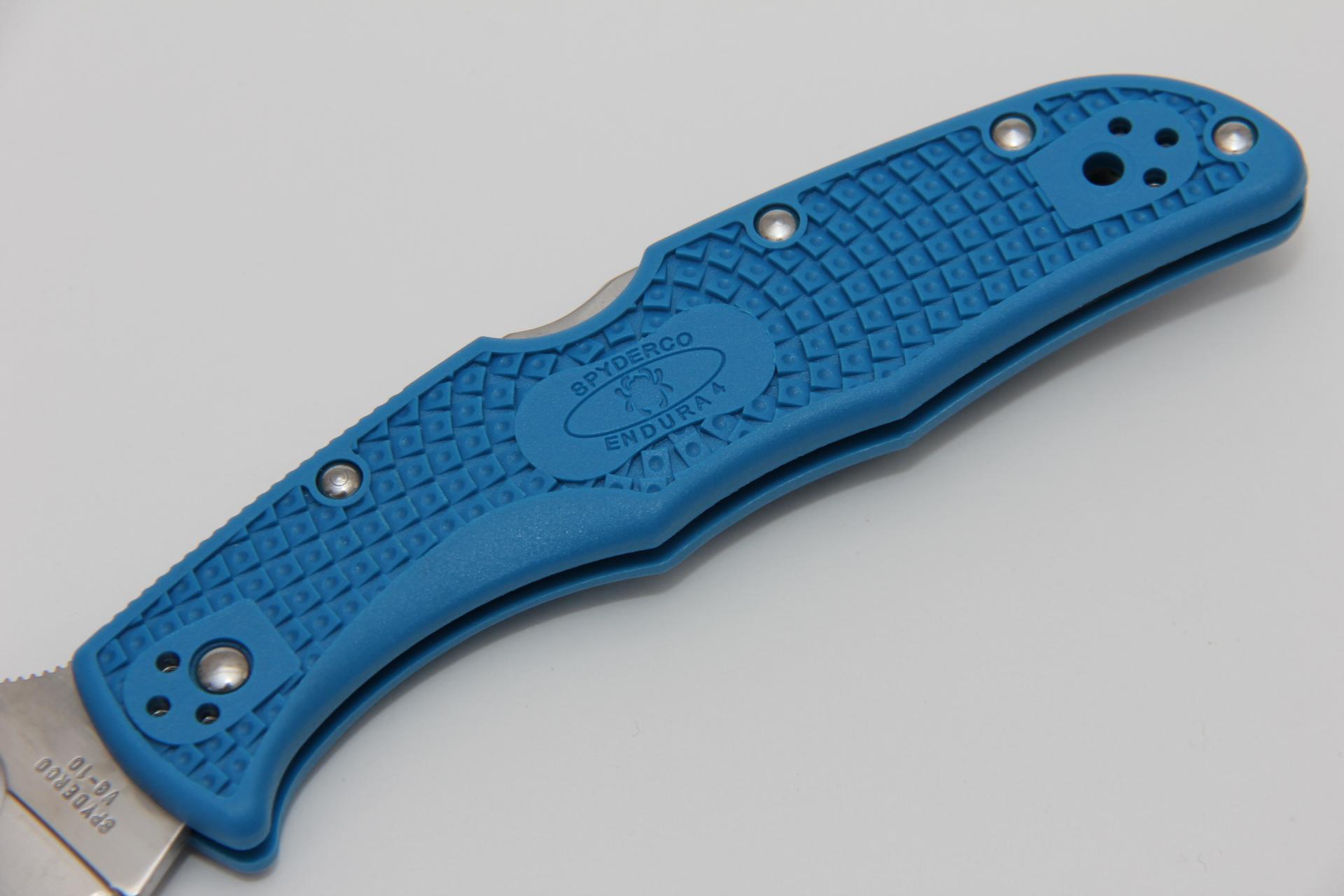 Нож Spyderco Endura Blue SC10FPBL - фотография