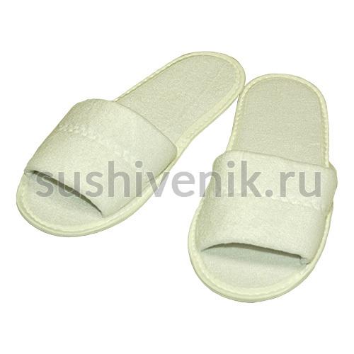 Тапочки для бани белые махровые