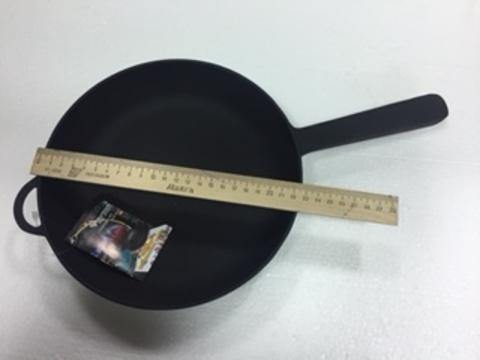 Сковорода чугунная  с  металлической ручкой 220 мм*40 мм,