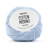Пряжа Drops Cotton Merino 09 нежно-голубой