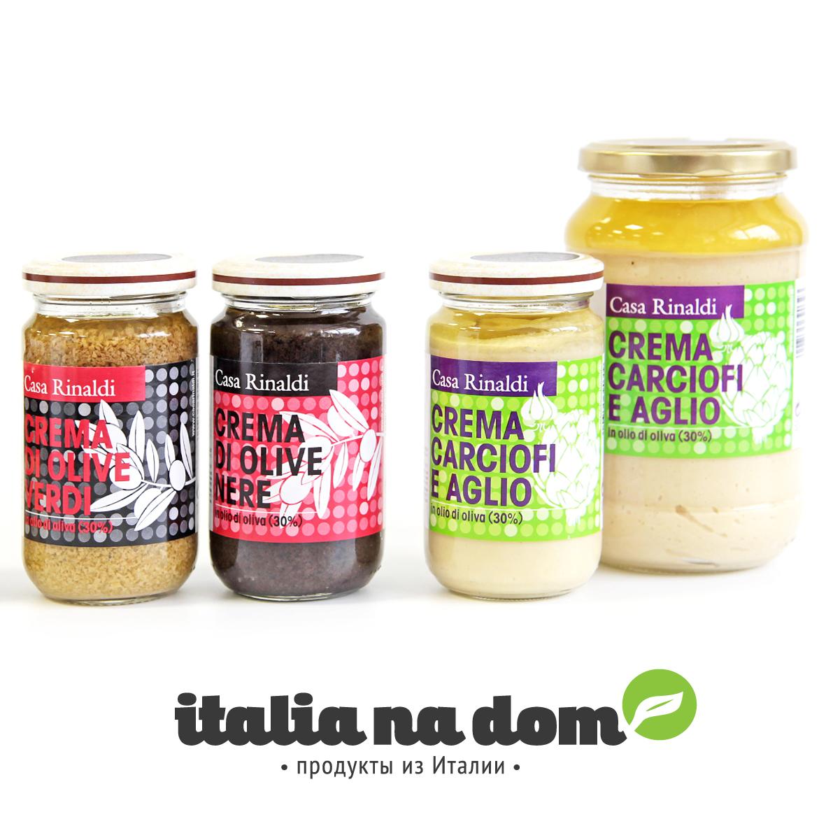 Крем-паста Casa Rinaldi из маслин в оливковом масле 180г