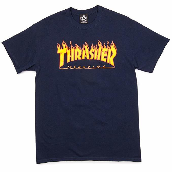 Футболка THRASHER Flame Navy