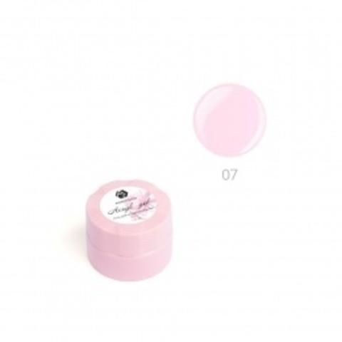 Акригель для наращивания ногтей ADRICOCO №07 камуфлирующий нежный розовый (10 мл.)