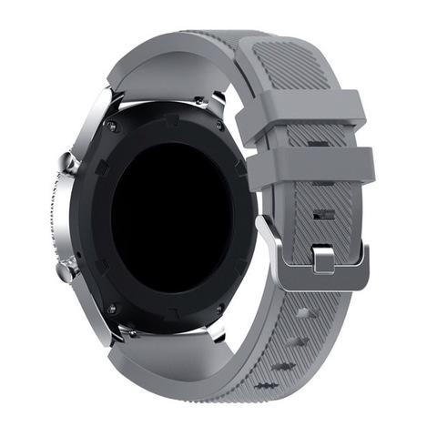 Силиконовый ремешок для Samsung Gear S3/Galaxy Watch 46 Fohuas Silicon Band 22мм (серый)