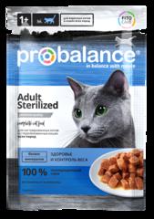 Пауч ProBalance Sterilized для кастрированных и стерилизованных котов и кошек